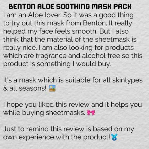 aloe soothing mask pack9